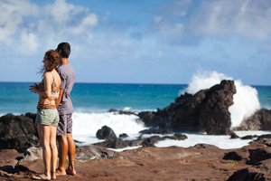 Couple on Maui Coast