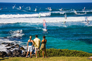 Watching Windsurfers on Maui